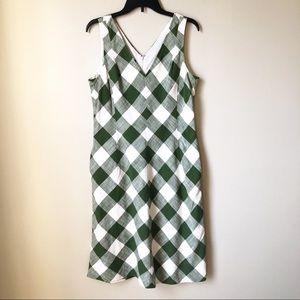 Talbots | Gingham / Checker Sleeveless Midi Dress